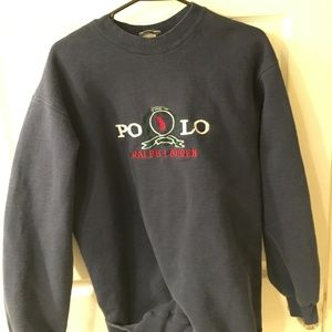 Mens XL Vintage Polo Sweater